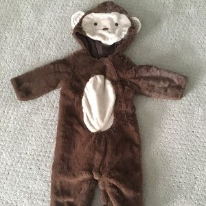 Pottery barn monkey costume 6-12 months